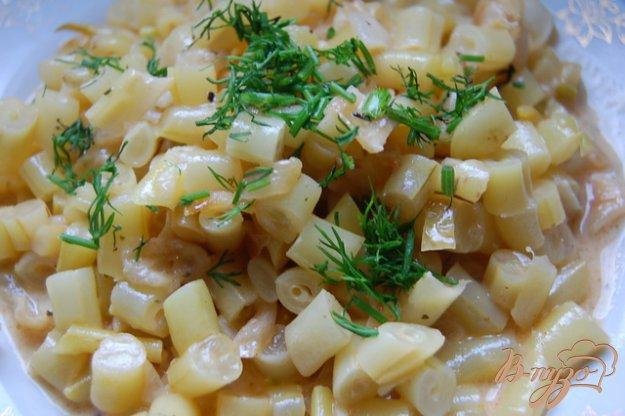 Рецепт Спаржевая фасоль в сливочно-томатном соусе