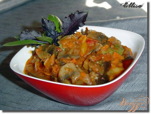 Рецепт Соте из овощей с грибами