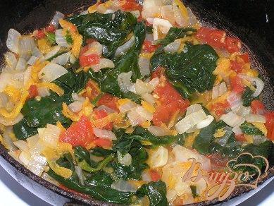 Лумакони с овощами и шпинатом