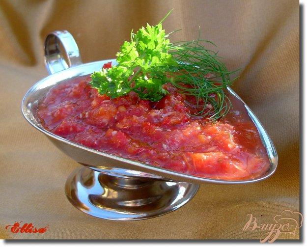 Рецепт Аджика, без тепловой обработки, с хреном
