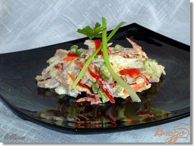 Рецепт Яркий салат «Морской бриз»