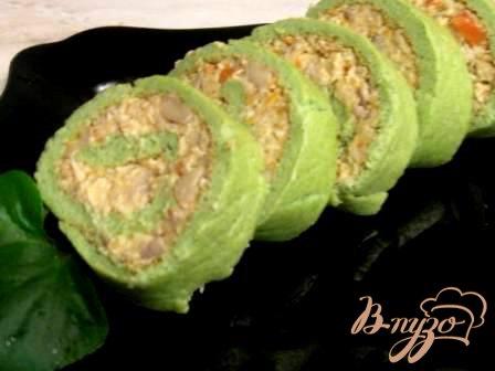 Рецепт Зеленый рулет с брокколи