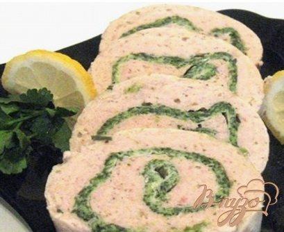 Рецепт Рыбный рулет-суфле со шпинатом