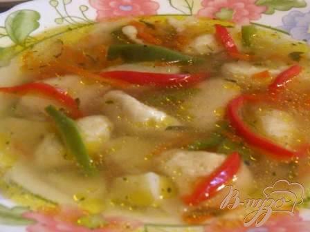 фото рецепта: Суп с чесночными клецками