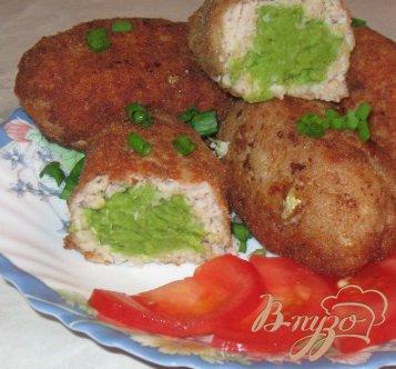 Рецепт Рыбные зразы с зеленым горошком
