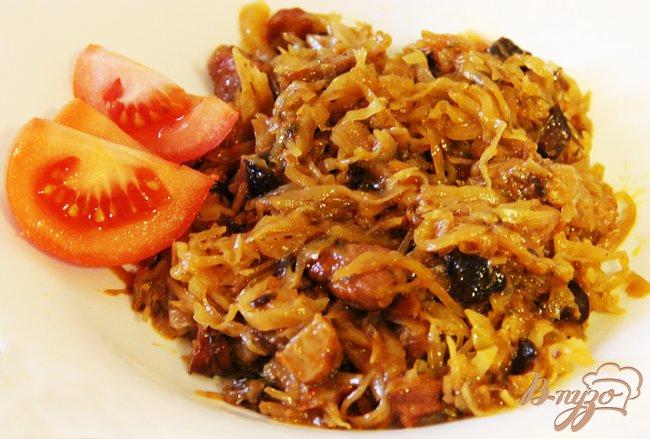 Рецепт Бигус - тушёная капуста с мясом