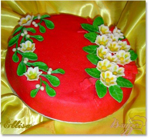 """Торт """"Зимние цветы"""""""