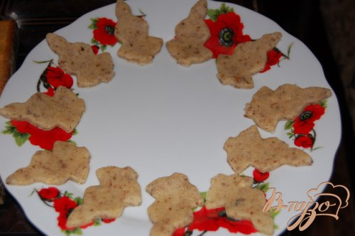 Ореховое песочное печенье из микроволновки