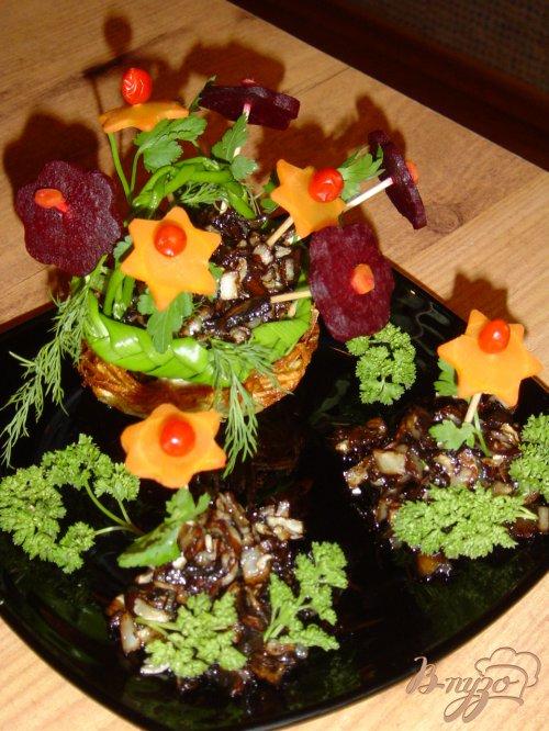 Грибное рагу c вареными овощами