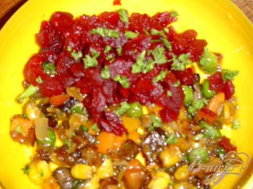 Свекла, фаршированная рисом и овощами