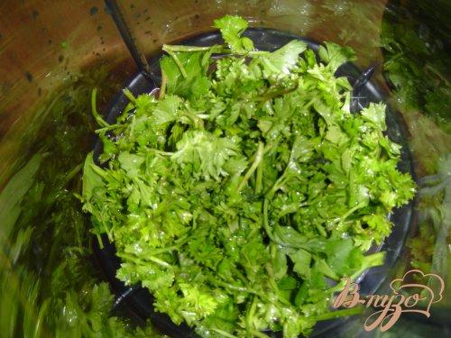 Креветки в зеленом соусе