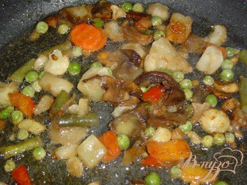 Картофельные клецки с овощами