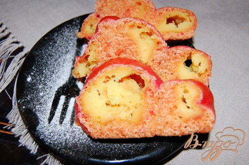Нежные розовые булочки с заварным кремом
