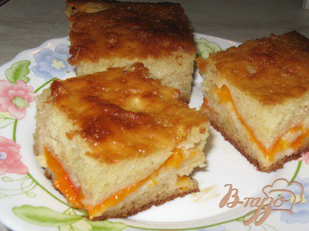 """Рецепт Абрикосовый пирог """"Оранжевый"""""""