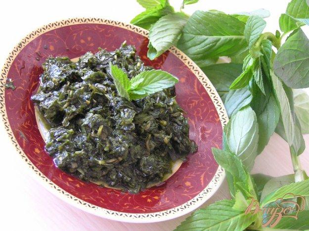 Рецепт Классический мятный соус для жаркого