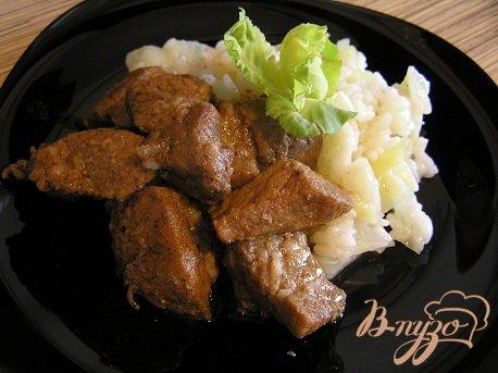 Рецепт Пряная свинина с соусом терияки