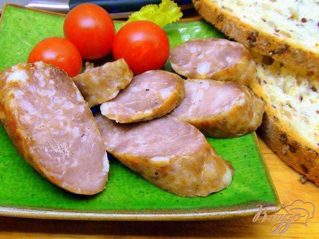 Рецепт Колбаса домашняя, свиная, на манер «Украинской»