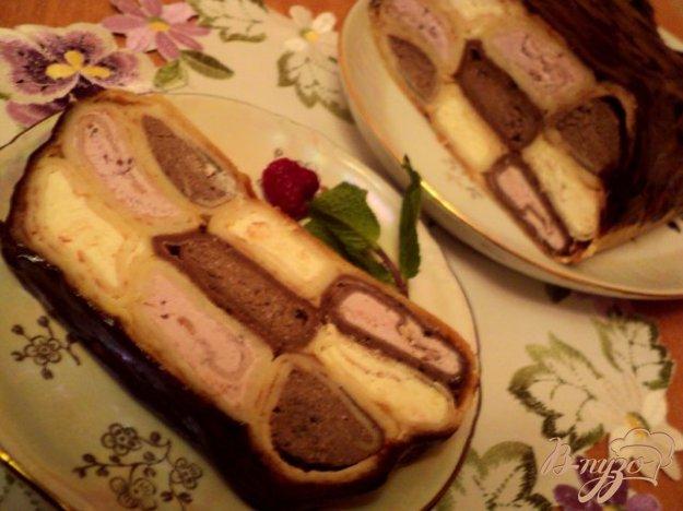 Рецепт Блинный пирог с творожной начинкой.