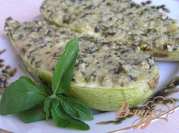 Рецепт Кабачки под орехово-мятным соусом