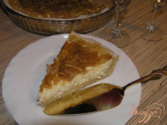 фото рецепта: Творожный пирог с яблоками