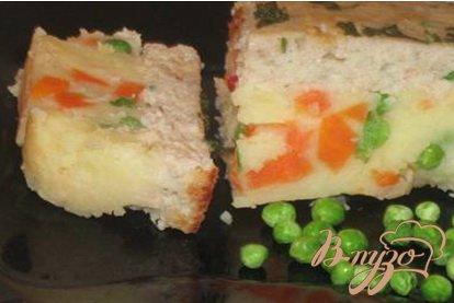 Картофельно-овощная запеканка с рыбным суфле