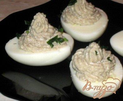 Рецепт Яйца фаршированные грибами