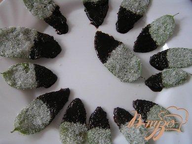 Листья мяты в шоколаде