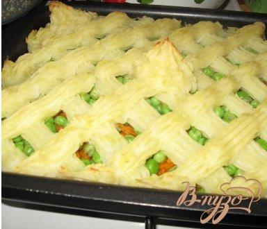 Рецепт Мясная запеканка с зеленым горошком