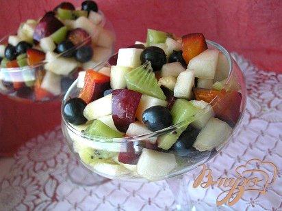 Рецепт Фруктовый салат с дыней
