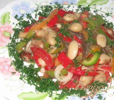 Рецепт Салат с фасолью и овощами