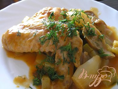 Рецепт Курица в белом вине