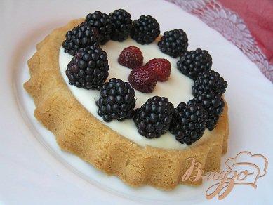 Рецепт Тарт с маскарпоне и ежевикой