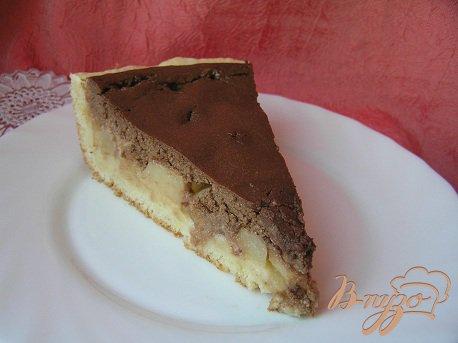 фото рецепта: Творожно-шоколадный тарт с дыней
