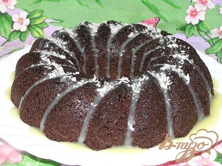 Рецепт Шоколадный кекс с черничным джемом и корицей