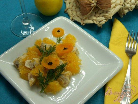 """Рецепт Салат """"Букет апельсиновых маков"""""""