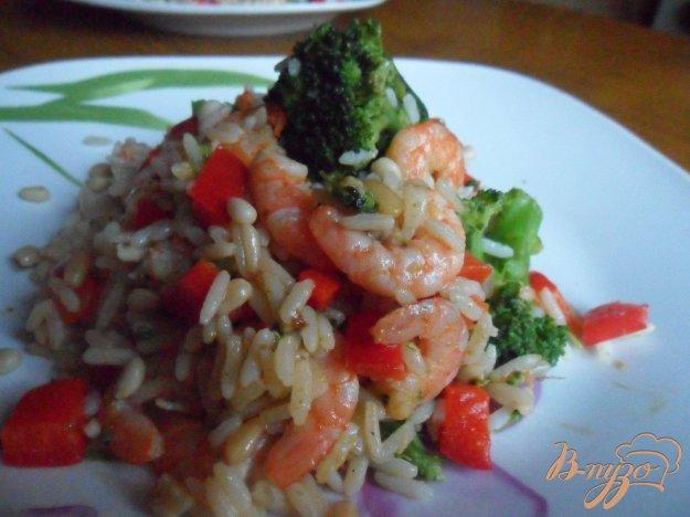 Рецепт Креветки с рисом и кедровыми орешками