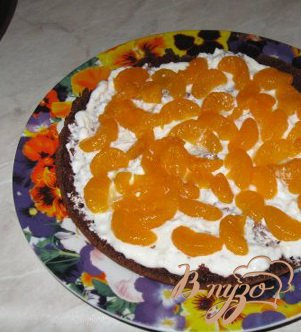 """Зефирно-мандариновый торт """"Космос"""""""