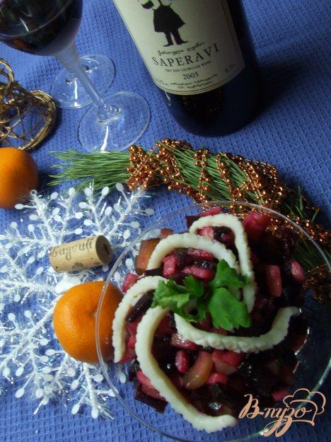 Рецепт Винегрет с кальмарами