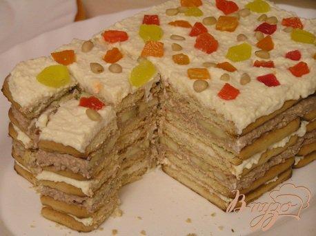 Рецепт Творожный торт из печенья