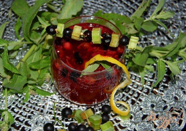 Рецепт Пряный смородиново-ревеневый напиток