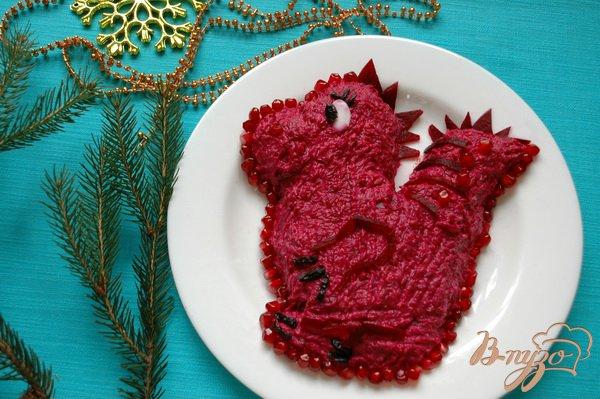 фото салат красный дракон
