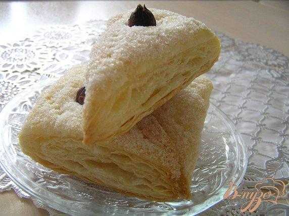 Рецепт Ванильные слоечки с фундуком