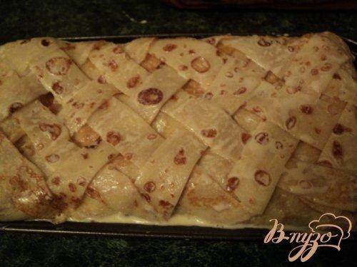 Блинный пирог с мясом