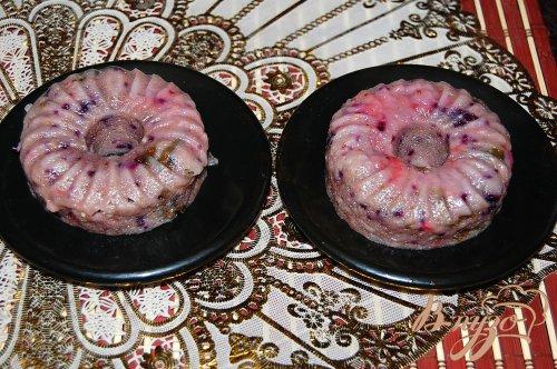 Кексы с ягодным пюре