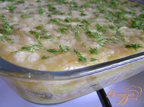 Мясная запеканка с картофелем, имбирем и зеленым горошком