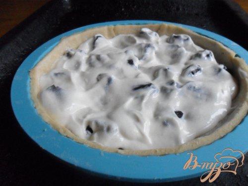 Тарт с сухофруктами и сметанной заливкой