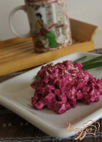 """Свекольный салат """"Цветение сакуры"""""""
