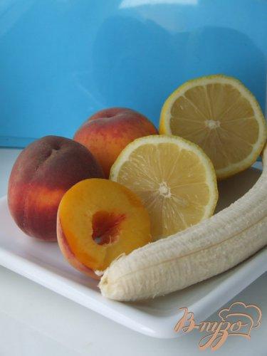 Освежающий персиковый сорбет с бананами и медом