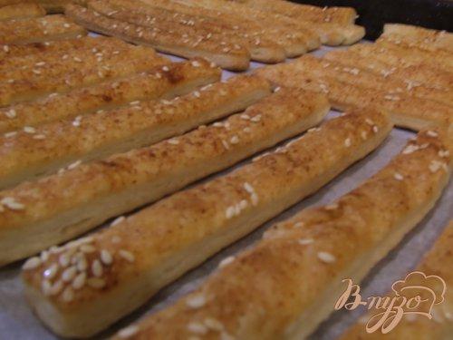 Хлебные палочки с кунжутом