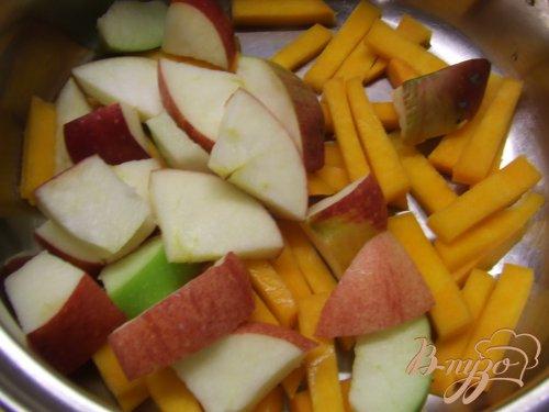 Компот с тыквой и яблоками